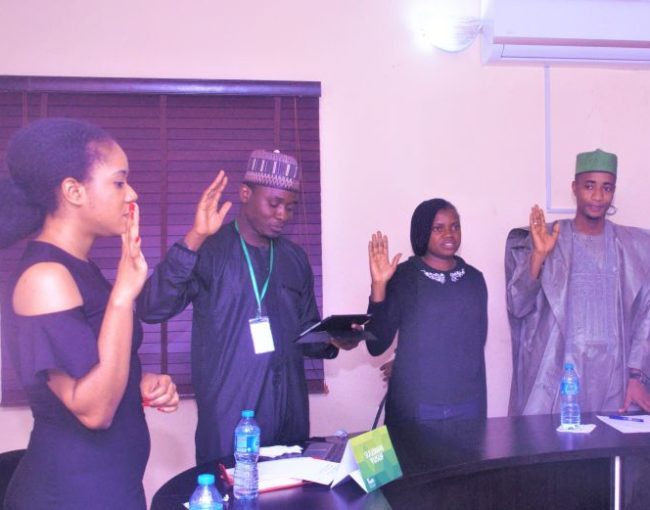 Induction and Swearing-In of newly elected National Executive Committee (NEC) 14