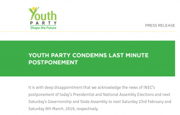 Youth Party Condemns Last Minute Postponement